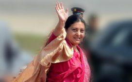 राष्ट्रपति विद्यादेवी भण्डारीको म्यानमार भ्रमणः जहाज भाडामात्रै पौने ४ करोड खर्च