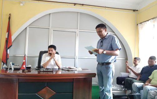 निर्माण ब्यबसायी संघ उदयपुरले बुझायो प्र.जी.अ.मार्फत सरकार लाई ज्ञापन पत्र