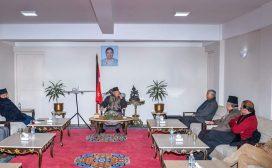 बालुवाटारमा नेकपा र कांग्रेस नेतृत्वबीच भेटघाट