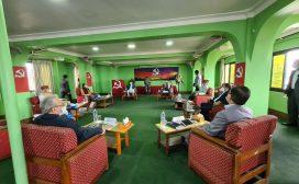 नेकपा सचिवालय बैठक पेरिसडाँडामा