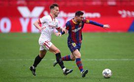 ला लिगामा बार्सिलोना विजयी, सेभिया २–० ले पराजित